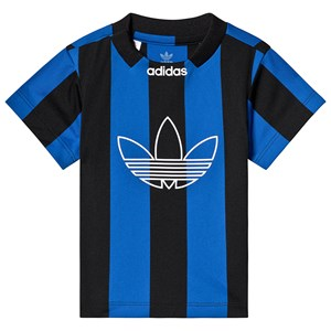 Image of adidas Originals Black and Blue Stripe Trefoil Jersey Tee 18-24 months (92 cm) (3125335183)