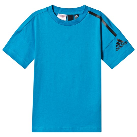 adidas Performance Blue Branded Tee shock cyan/black