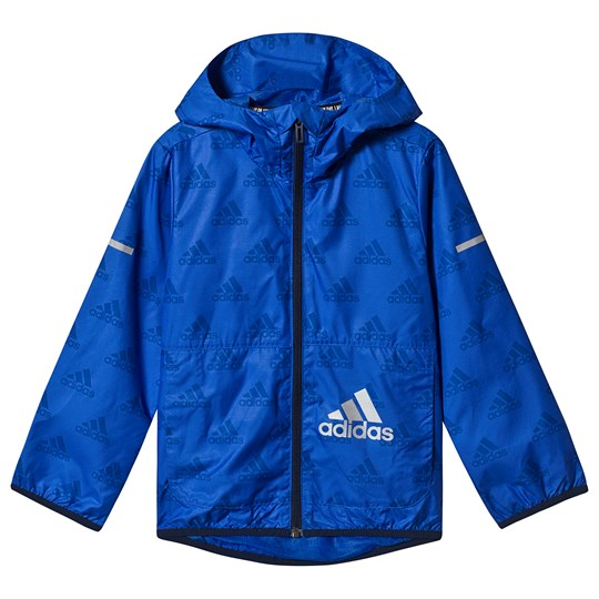 adidas Performance Branded Vindjacka Royal Blue blue/silver met.