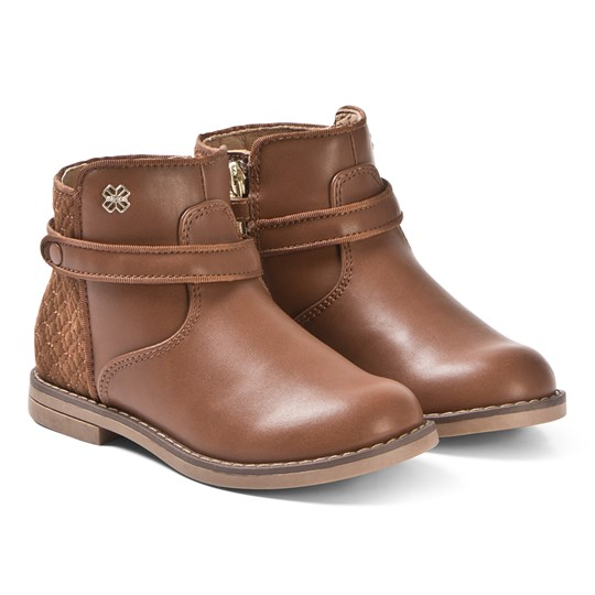 Mayoral Brown Quilted Leather Boots 83