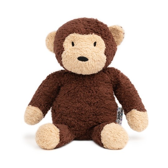 natureZOO Organic Brown Monkey Plush Soft Toy
