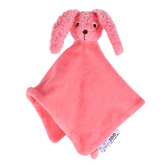 natureZOO Organic Pink rabbit cuddle cloth