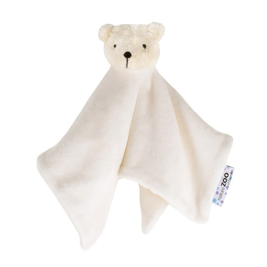 natureZOO Organic White Polar Bear Cuddle Cloth