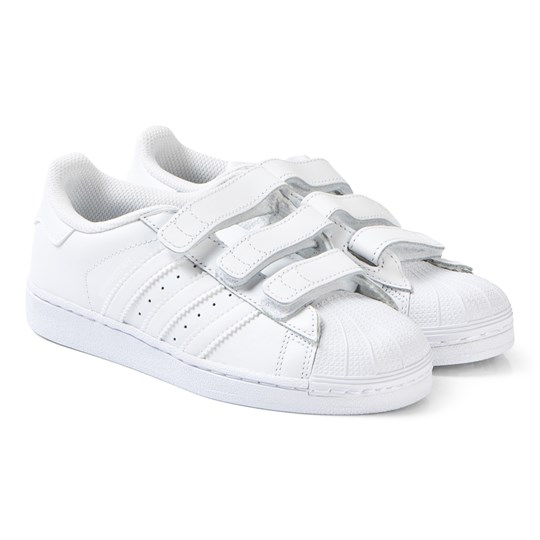 sports shoes b2e50 a2aa5 adidas Originals - Superstar Foundation Velcro Trainers All ...