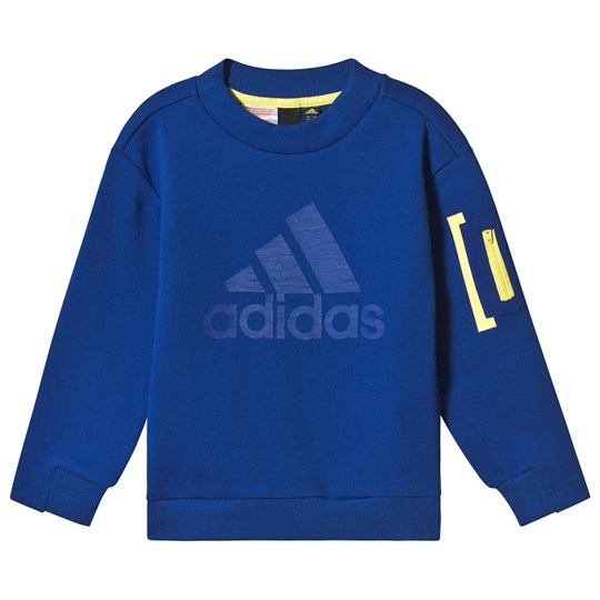 adidas Performance Blue Crew Neck Sweatshirt collegiate royal/shock yellow