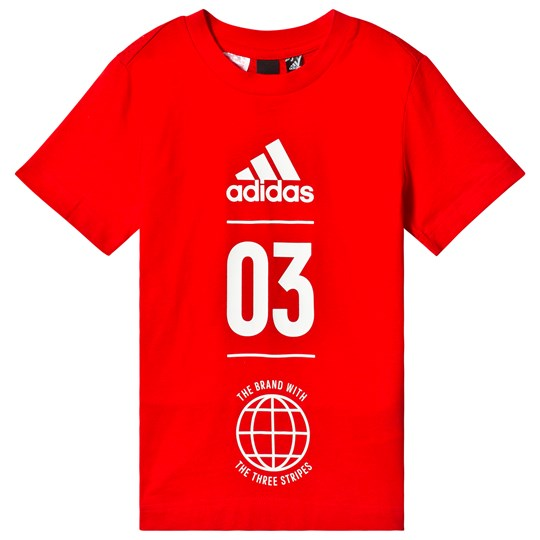 adidas Performance Red 03 Logo Tee active red/white