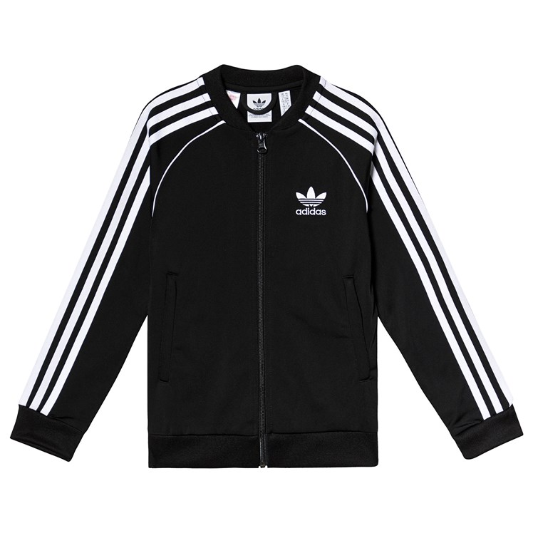 adidas Originals Black Branded Track Jacket Babyshop.no