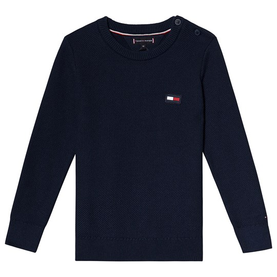 Tommy Hilfiger Navy Flag Knitted Sweater 002