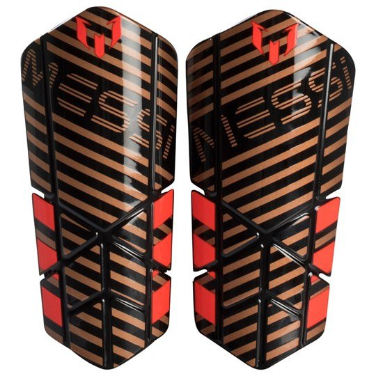 adidas Performance Gold Messi 10 Lesto Shin Guards TACTILE GOLD MET. F17/BLACK/SOLAR RED