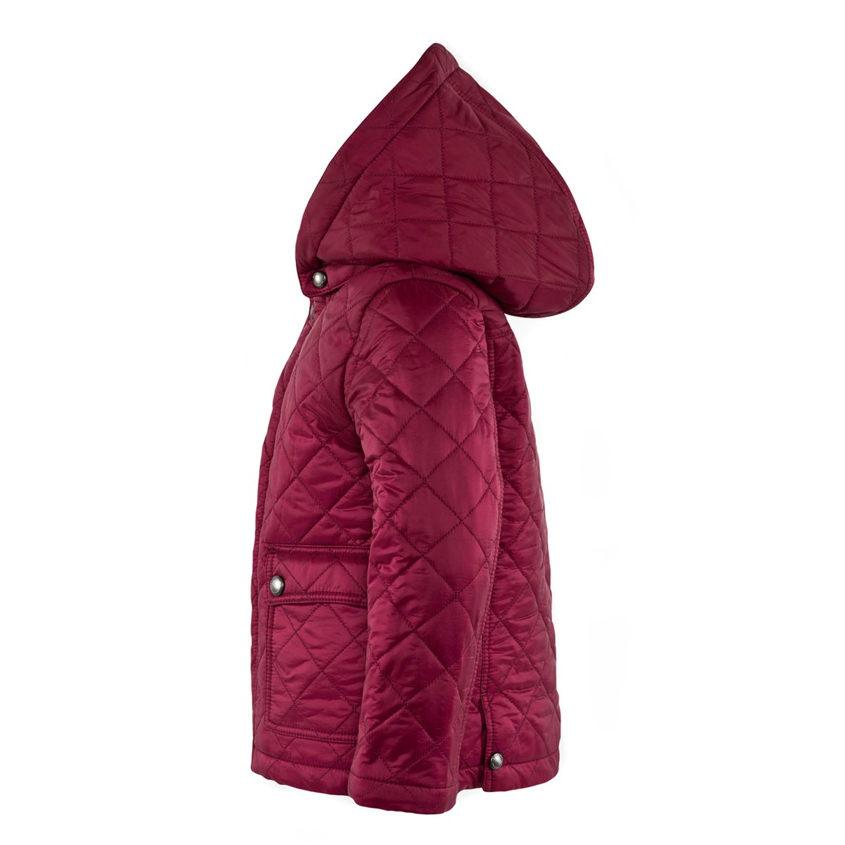 Burberry - Quilted Jacket with Check-Lined Hood Fritillary Pink -  Babyshop.com 867da13e07