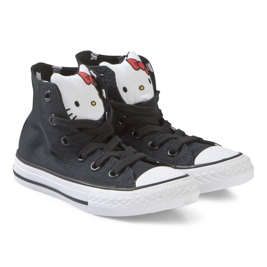 Converse Black Hello Kitty Chuck Taylor High Tops BLACK/FIERY RED/WHITE