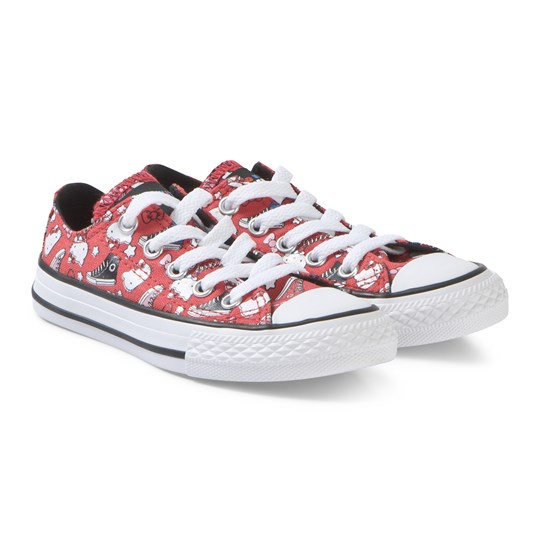 139edcb1b0df6e Converse Red Hello Kitty Chuck Taylor Sneakers FIERY RED BLACK WHITE