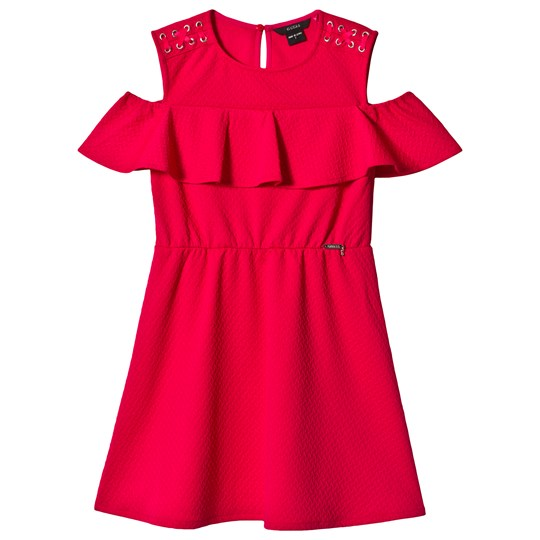 Guess Pink Ruffle Guess Dress ELRS