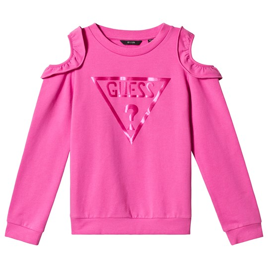 Guess Pink Logo Cold Shoulder Sweatshirt G627