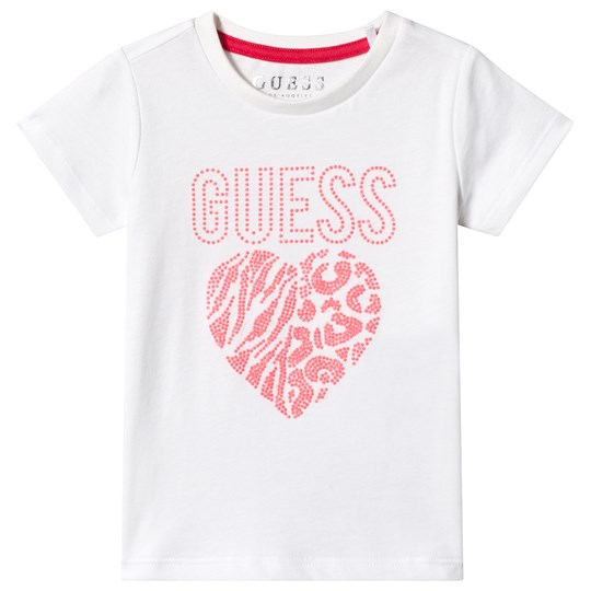 Guess White Studded Animal Print Tee TWHT