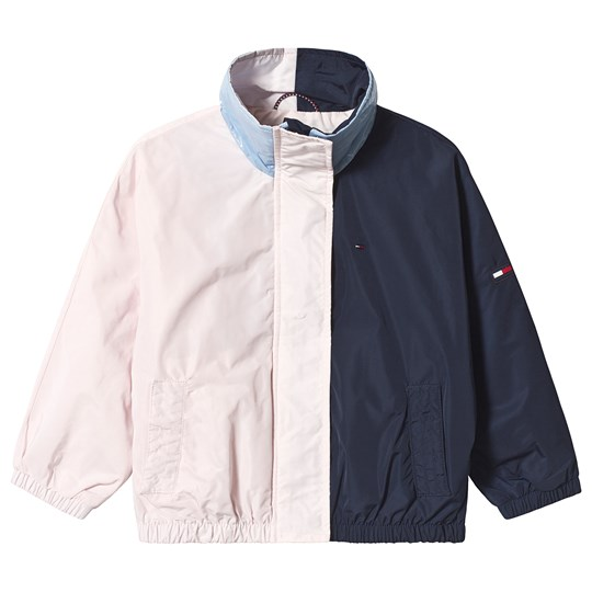 Tommy Hilfiger Pale Pink and Navy Colorblock Batwing Jacket 002