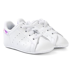 Image of adidas Originals Stan Smith Crib Sneakers White and Silver 17 (UK 1) (1283284)