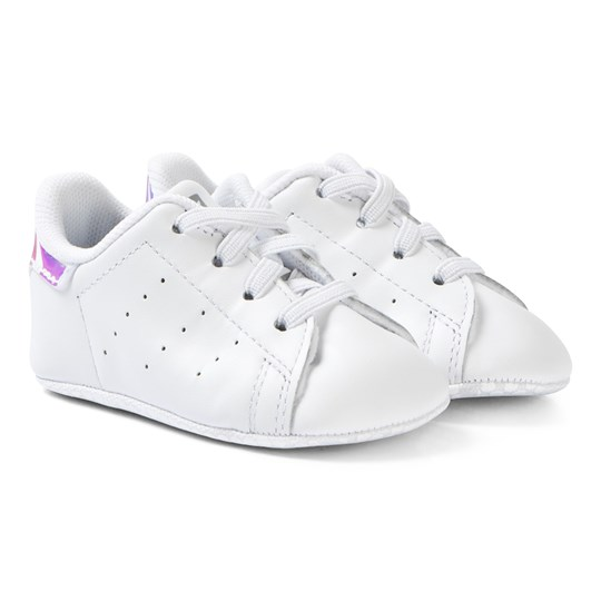 wholesale dealer 6173e a6bb5 adidas Originals - Stan Smith Crib Sneakers White and Silver ...