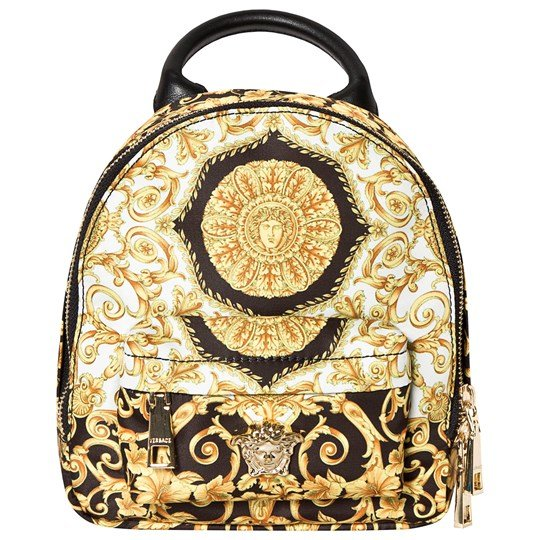 Versace Black and Gold Baroque Mini Backpack YSF8H