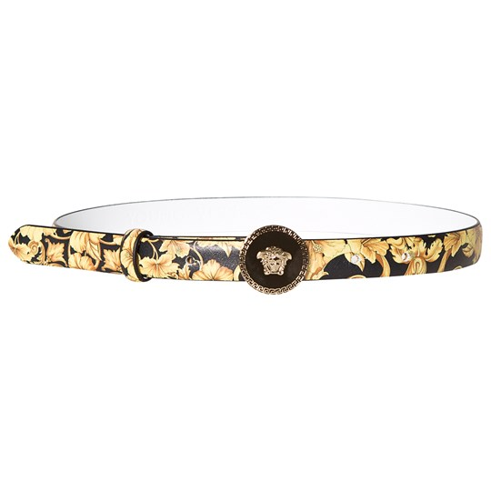 Versace Black and Gold Baroque Belt YB6O