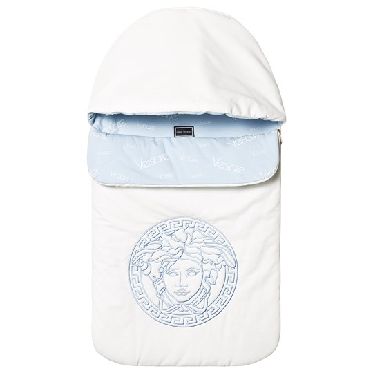 Versace White and Pale Blue Medusa Nest Y5113