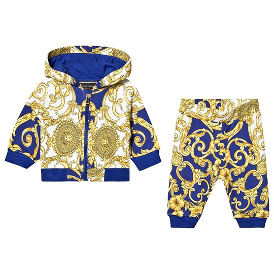 Versace Gold an Blue Baroque Tracksuit Y5173