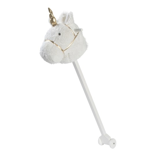 STOY Play Hobby Horse Unicorn White