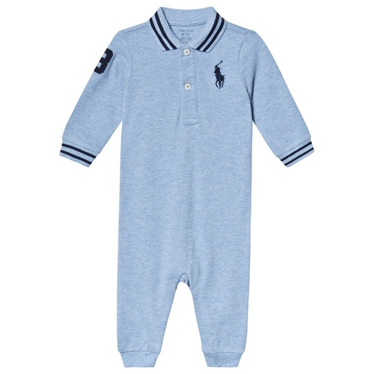 Ralph Lauren Blue Heather Pique One-Piece 005