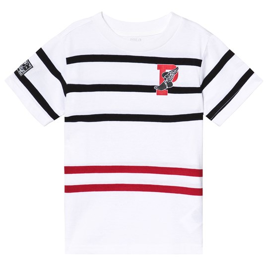 Ralph Lauren White Multi Stripe Tee 001