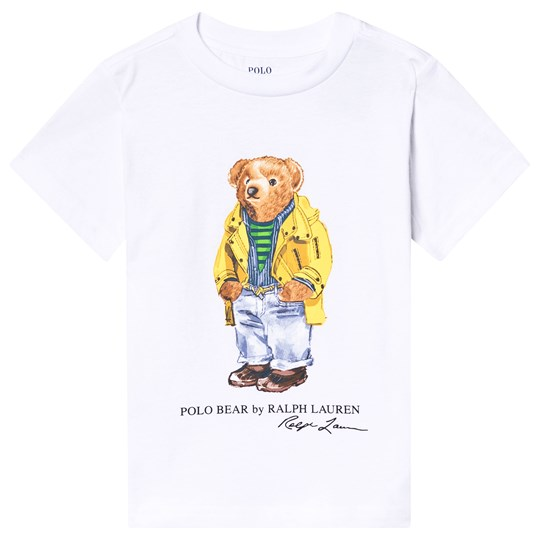 Ralph Lauren White Outdoor Bear Print Tee 001