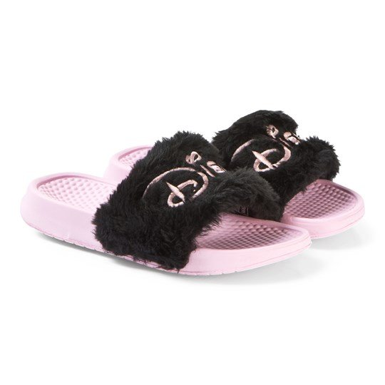 Hype Pink Hype x Disney Branded Sliders PINK/BLACK