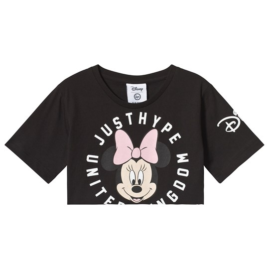 Hype Hype x Disney Minnie Mouse Crop T-shirt Svart Black