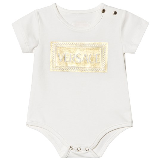 Versace White and Gold Branded Baby Body Y5123