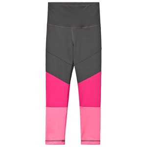 Image of adidas Performance Grey and Pink Colour Block Leggings 13-14 years (164 cm) (3125349361)