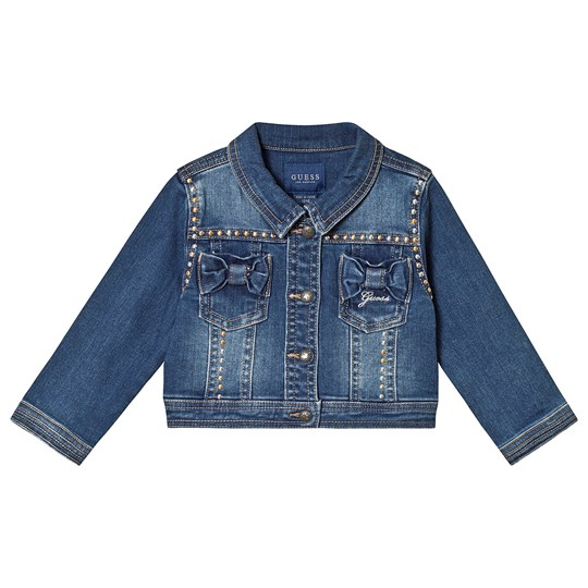 Guess Blue Light Wash Studded Denim Jacket MISE