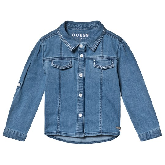 Guess Blue Denim Studded Shirt SMED