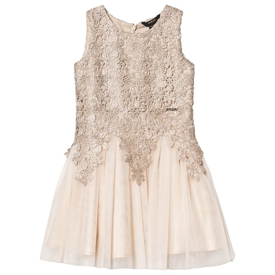 Guess Champagne Flower Broderie Tulle Dress PCI