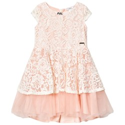 Guess Peach Floral Lace Tulle Party Dress