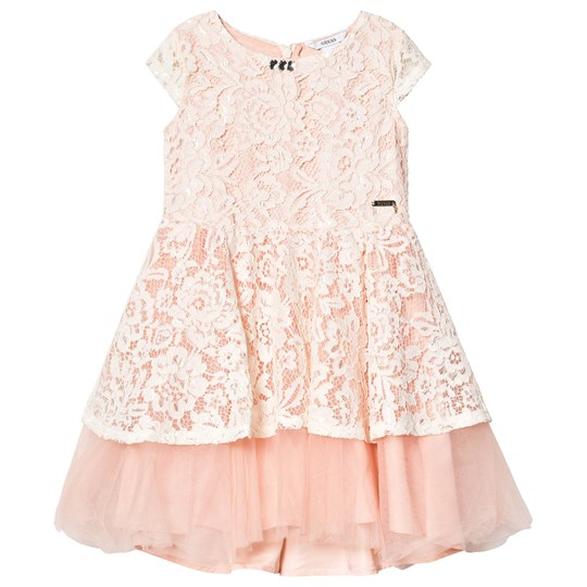 Guess Peach Floral Lace Tulle Party Dress G1H6