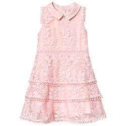 Guess Pink Flower Lace Tiered Party Dress