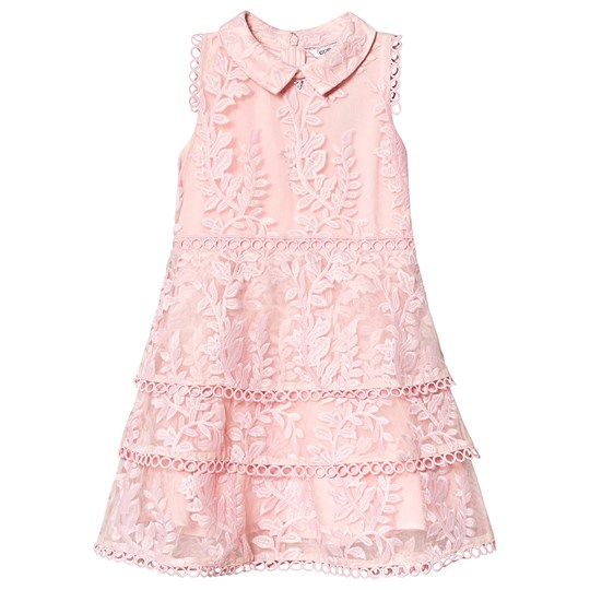 Guess Pink Flower Lace Tiered Party Dress HRKP
