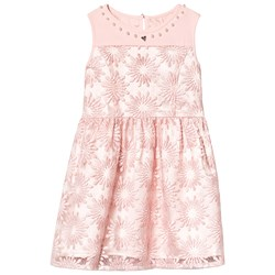 Guess Pink Flower Embroidered Dress