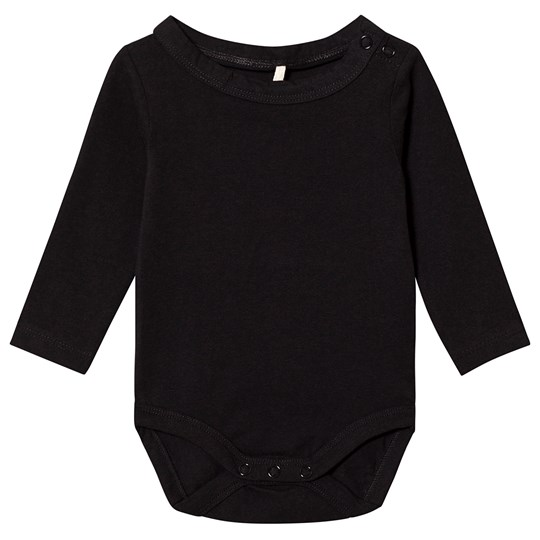A Happy Brand Long Sleeve Baby Body Black