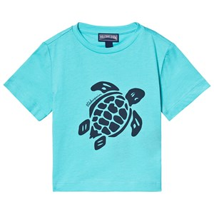 Image of Vilebrequin Blue Large Turtle Tee 10 years (3125232509)