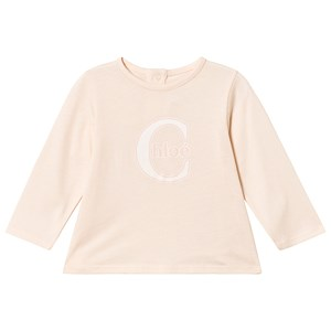Image of Chloé Pale Pink Chloe Logo Tee 6 months (3125260427)