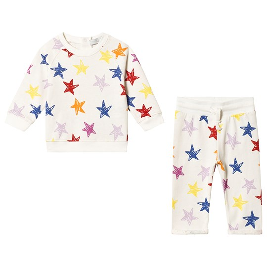 Stella McCartney Kids White Star All Over Print Tracksuit 9088 - Multicolor Stars Whi
