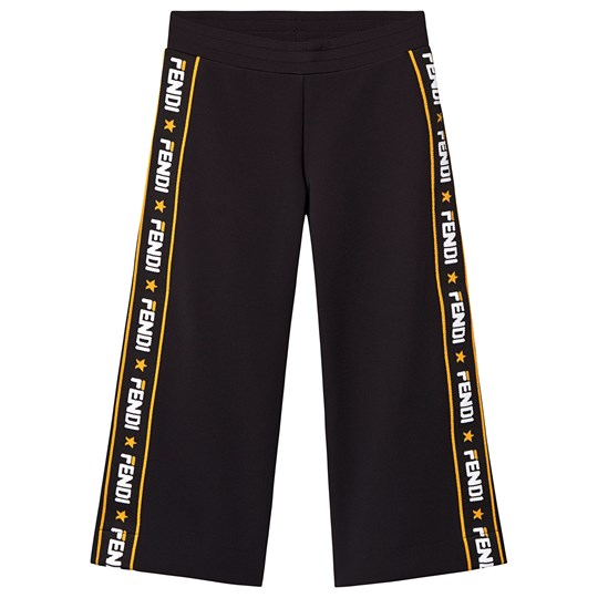 Fendi Black Branded Pants F0QA1