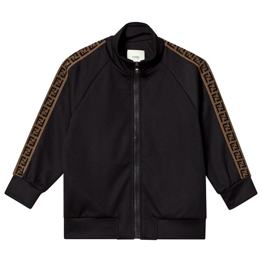Fendi Куртка Black Track Jacket with FF Logo Trim F0QA1