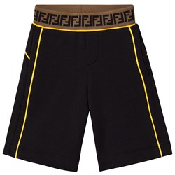 Fendi Black Logo Shorts