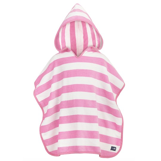 Snapper Rock Pink and White Poncho Towel Pink